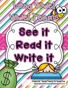 See It, Read It, Write It--LONG VOWELS  {Word Work Centers