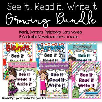 See It, Read It, Write It---  MEGA GROWING PHONICS BUNDLE