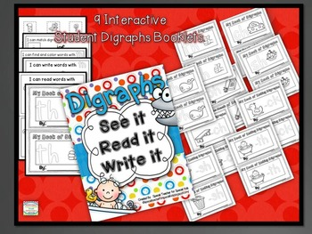 See It, Read It, Write It- NO PREP  **DIGRAPHS**