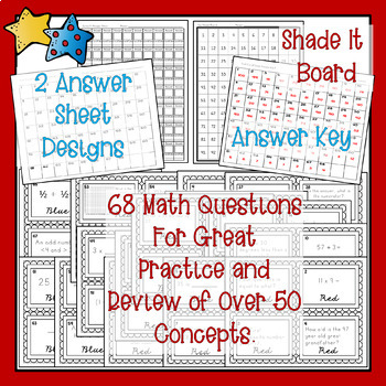 See It, Solve It, Shade It CCSS Math Review. 68 Task Cards with a Seuss Twist!