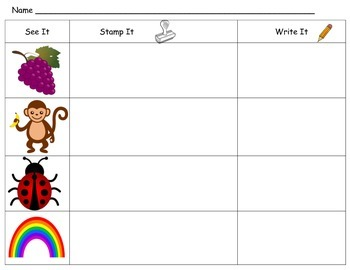 See It, Stamp It, Write It - Beginning Sounds