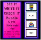 See It Write It Check It - CVC Phonic Slides