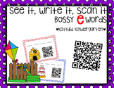 See It, Write It, Scan It Bossy E Words QR Codes