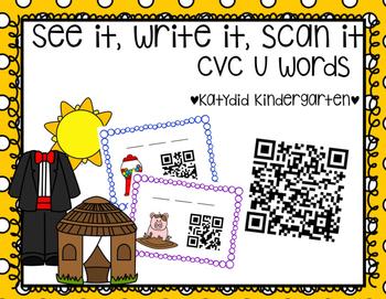 See It, Write It, Scan It CVC u Words