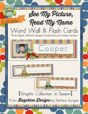See My Picture, Say My Name Word Wall and Flash Cards {In Session}