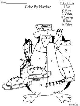 See Penguin Emergent Reader / Winter Writing/ Color By Number / Kindergarten