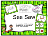 See Saw: ESL Vocab, Flashcards, Worksheets