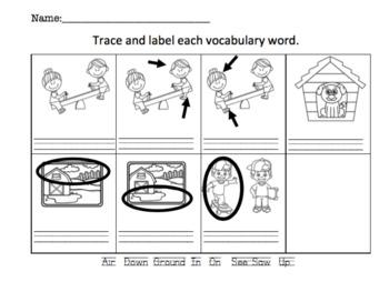 See Saw: ESL Vocab, Flashcards, Worksheets