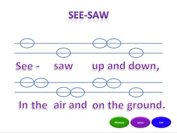 See-Saw - Notation Pack
