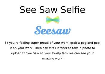 See Saw Selfie Sign