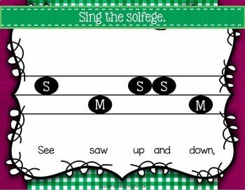 See Saw {Steady Beat} {High Low} {Ta TiTi} {Sol Mi} Kodaly Method Folk Song File