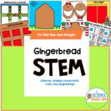 See Saw and Google Slides Digital Gingerbread Man STEM Pack