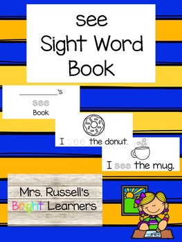 See Sight Word Practice Book