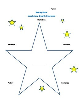 See Stars Vocabulary Graphic Organizer
