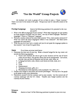 See the World Projects