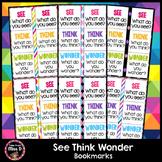 See Think Wonder Bookmarks