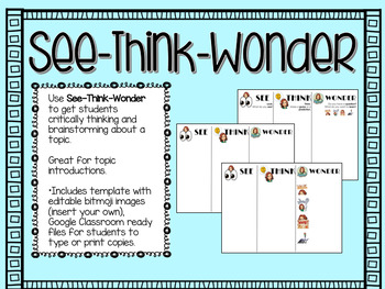 See Think Wonder Graphic Organizer By A Llama Learning Tpt