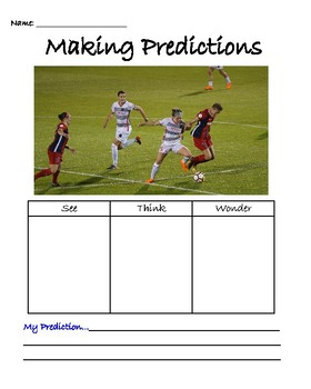 See Think Wonder Making Predictions using Pictures