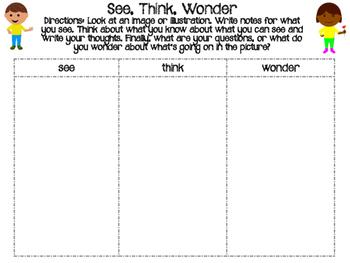See, Think, Wonder Organizer FREE
