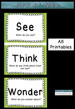 See Think Wonder Poster