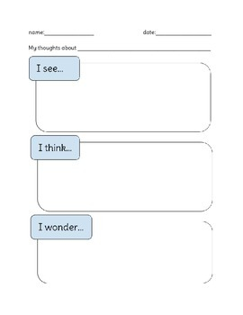 See Think Wonder (Science and Inquiry) sheet