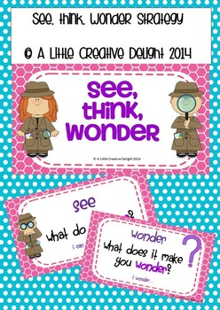 See, Think, Wonder Strategy Posters
