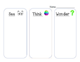 See Think Wonder & Write Graphic Organizer: Editable