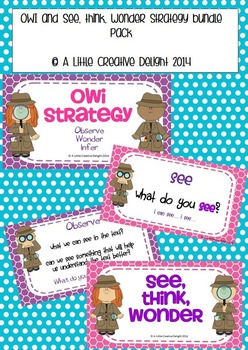 See, Think, Wonder and OWI strategy bundle pack