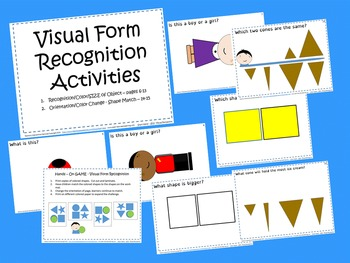 """Visual Scanning, Perception, and Processing Activities - """"See!"""""""