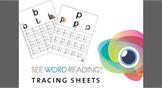 See Word Reading Alphabet Tracing Sheets Preschool / Kinde