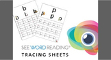 See Word Reading Alphabet Tracing Sheets Preschool / Kinde