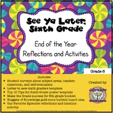 See Ya Later, Sixth Grade: End of the Year Reflections and Activities