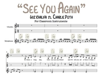 """See You Again"" (Wiz Khalifa) Classroom Instrument Accompaniment"