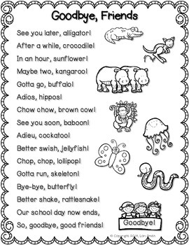 graphic regarding See You Later Alligator Poem Printable identified as Watch Your self Afterwards Alligator!