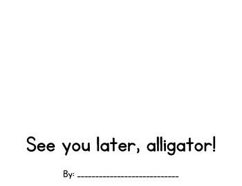 See You Later Alligator-Moving Student Book
