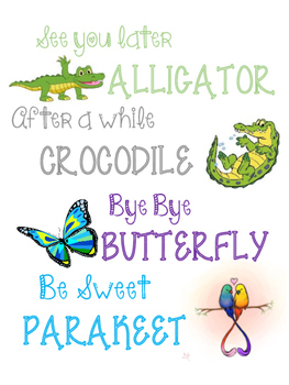 graphic about See You Later Alligator Poem Printable known as Watch On your own Afterwards Alligator Worksheets Training Products TpT