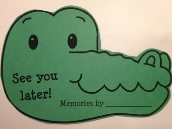 See You Later, Alligator! Memory Book