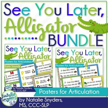 See You Later, Alligator Posters for Articulation Bundle - SLP Decor