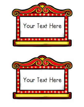 See Your Name In Lights - Hollywood Themed Bulletin Board