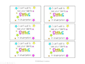 See Your Talent Shine Gift Tags - Freebie