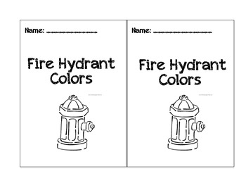 See & color words fire hydrant.