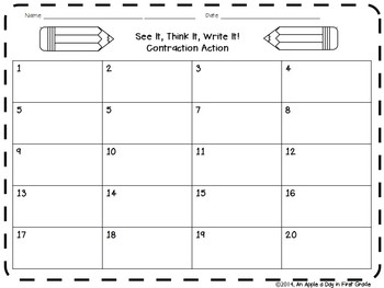 See it, Think it, Write it! Contraction Action