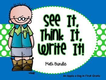 See it!  Think it!  Write it!  Math Bundle