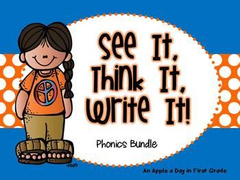 See it!  Think it!  Write it!  Phonics Bundle