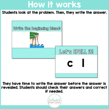 See it. Write it. - Beginning Consonant Blends Interactive PowerPoint