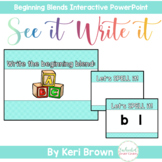 Beginning Consonant Blends Interactive PowerPoint