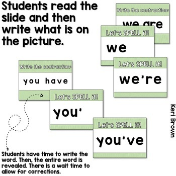 See it. Write it. - Contractions Interactive PowerPoint