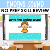Word Work: Ending Sounds Interactive Powerpoint See it. Write it.