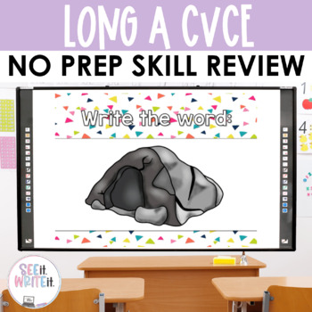 See it. Write it. - Long A Interactive PowerPoint