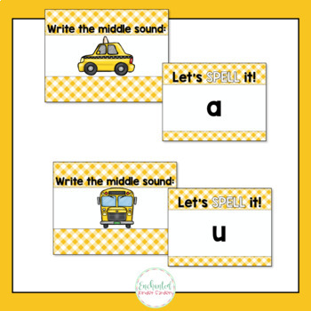 Middle Sounds: Word Work Interactive PowerPoint